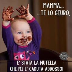 mummy honestly, the nutella fell over me. Teacher Quotes, Mom Quotes, Best Quotes, Kissing Quotes, Funny Definition, Foto Baby, Funny Images, Funny Pictures, Funny Posts
