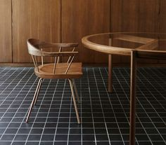 BassamFellows Journal -  Spindle Chair paired with the Spoke Table.