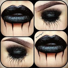 #Goth make-up from depechegirl