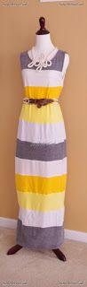 simply step back: DIY Maxi Dress Tutorials