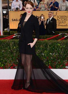Emma Stone wearing Dior