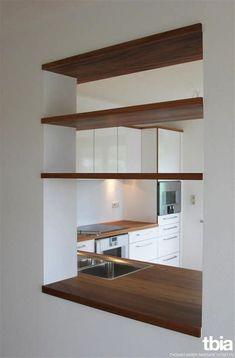 Kitchen Room Design, Living Room Kitchen, Bathroom Interior Design, Home Decor Kitchen, Kitchen Interior, Home Kitchens, Küchen Design, House Design, Semi Open Kitchen