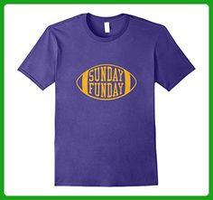 Mens Vintage Sunday Funday T Shirt Minnesota Football Retro Tee Small Purple - Retro shirts (*Amazon Partner-Link)