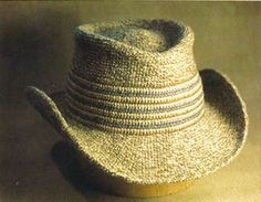 """Cowboy Hat"" by Mark Dittrick, crochet designer author of vintage crochet book, 'Hard Crochet'. Crochet Cowboy Hats, Crochet Adult Hat, Unique Crochet, Crochet Books, Knit Or Crochet, Cute Crochet, Crochet For Kids, Vintage Crochet, Knitted Hats"