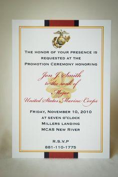 8 best promotion images on pinterest promotion party military marine officer retirement invitation by starsandstripe on etsy stopboris Choice Image