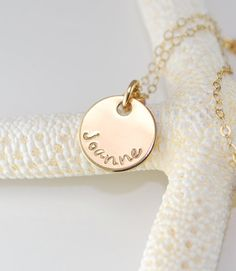 Bridesmaids gift - personalized necklace $28.00
