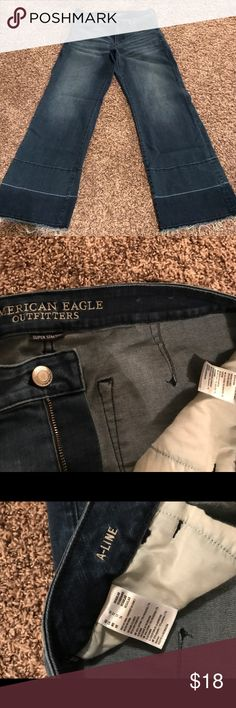 American Eagle A-line flare jeans Size 12 Aline American Eagle Outfitters Jeans Flare & Wide Leg