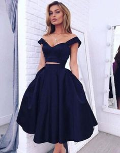 Gorgeous Two pieces Off-the-shoulder Prom Dress 2016 Short Homecoming Dress_Homecoming Dresses_Special Occasion Dresses_High Quality Wedding Dresses, Quinceanera Dresses, Short Homecoming Dresses, Mother Of The Bride Dresses - Buy Cheap - China Wholesale - 27DRESS.COM