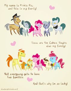 Pinkie pie's two families