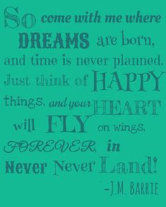 J.M. Barrie Peter Pan Quote