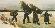 Wood Gatherers in the Snow by Vincent Van Gogh