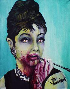Zombie Audrey Hepburn by Mike Vanderhoof