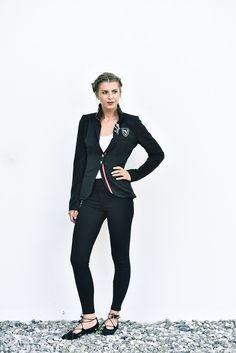 Jacke Jersey schwarz - Mirabell Plummer Sporty, Style, Fashion, Jackets, Black, Woman, Moda, Stylus, Fasion