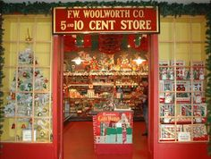 Memories of the old-fashioned Woolworth's 5 and 10 cent store at Christmas.