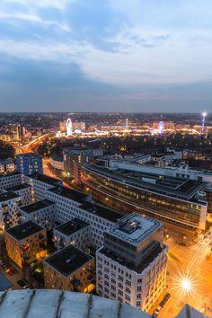Hamburger Dom zur blauen Stunde | Bildschönes Hamburg