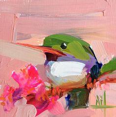 Tody Bird no. 43 Original Oil Painting by Angela Moulton pre-order