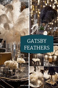 Great Gatsby 20s Feathers via Loulou + Jones