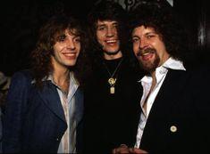 Peter Frampton, Bev Bevan and Jeff Lynne, early 70s