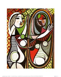 Girl Before a Mirror, c.1932 Print by Pablo Picasso at AllPosters.com
