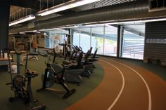 Scottsdale Community College | Three lane Mondo surface indoor track. #SCCFitnessCenter, #SCCFitnessWellness, #GetYourFitnessOn #IndoorTrack #Running #ScottsdaleFitness