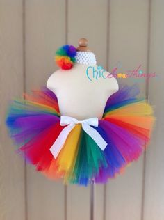 Rainbow Wedding. rainbow tutu