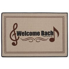Welcome Bach Doormat at The Music Stand