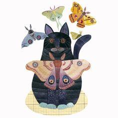 Moth Cat. $30.00, via Etsy.