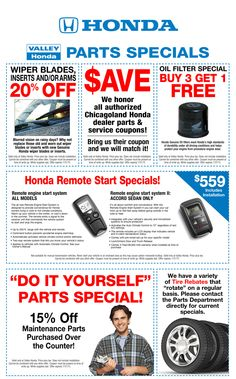 Service specials coupons october valley honda specials auto part specials coupons august solutioingenieria Gallery