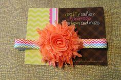 orange tangerine  glitter sparkle chevron by CraftyAshBowsnMore, $5.00