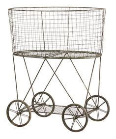 Another great find on #zulily! Metal Wire Wheeled Basket - maybe Gift Table or Wedding Accent $89.99 #zulilyfinds