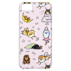 #Animals                                        Pomeranian Pattern Baby Pink iPhone 5C Cases                   Original design by Off-Leash Art with many hand drawn illustrations of all colors of Pomeranians doing funny things against a pink background. Cute girly design for kids Pom and all dog lovers. Also available in white and blue.