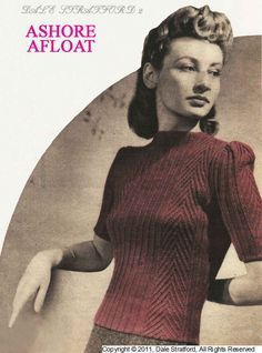 Vintage Ladies Sweater, Knitting Pattern, 1940/1950 (PDF) Pattern, Dale Stratford DS2 by LittleJohn2003 on Etsy