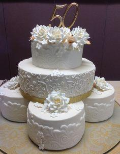 Last week's creation for friends' golden anniversary celebration.