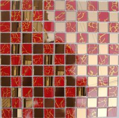 crystal glass tile mosaic glass mirror tiles red mirrored wall stickers bathroom mirror wall border kitchen