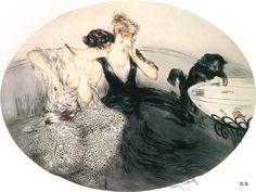 Icart, Louis (b,1888)- Cat & Goldfish, IIc