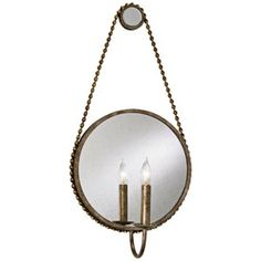 "Currey and Company Somerset 25"" High Silver Wall Sconce"