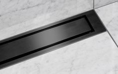 Unidrains linear floor drain can be positioned either by the wall or as a free-standing solution. Choose a line drain from ClassicLine and HighLine. Linear Drain, Floor Drains, Timeless Design, Colour Black, Color, Mixers, Bathrooms, Interior, Inspiration