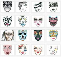 Mac halloween makeup templates