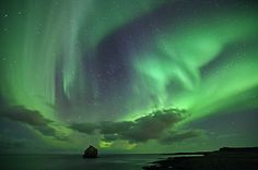 Northern lights in Iceland by olgeir via flickr