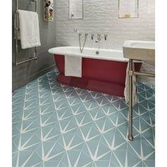 Ca'Pietra Porcelain Lily-Pad Pattern Wall & Floor Tiles 3d Bathroom Design, Bathroom Interior, Bathroom Ideas, Family Bathroom, Victorian Tiles, Victorian Interiors, Tiles For Sale, Vintage Tile, Wall And Floor Tiles