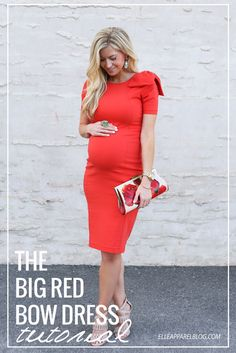 Elle Apparel: THE BIG RED BOW DRESS TUTORIAL