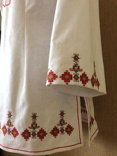 Туника с бродерия Creative Embroidery, Folk Embroidery, Folk Costume, Costumes, Textile Patterns, Textiles, Bridal Dresses, Cross Stitch, Traditional