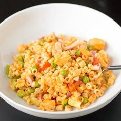 Originating as a back-of-the-box recipe from the '60s, this Macaroni Salad is sweet yet tangy, not to mention a confetti of fun colors and textures