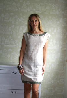Handmade Linen dress size SM by kadabros on Etsy, $64.00