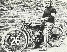 Oliver Godfrey on an Indian, the first winner on the new mountain course TT 1912