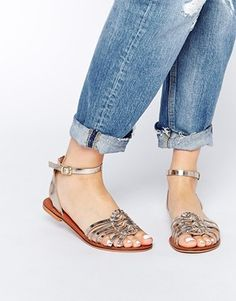 Enlarge ASOS FAITHFUL Leather Woven Sandals
