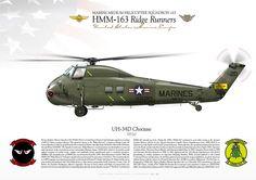 "UNITED STATES MARINE CORPS Marine Medium Helicopter Squadron 163 (HMM-163) ""Ridge Runners"" Marine Corps Air Station Miramar, CA"