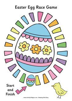 Easter Egg Race Game