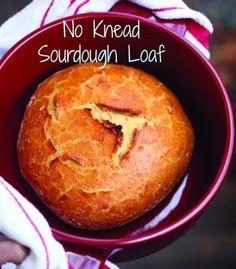 Easy No Knead Sourdough Bread
