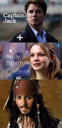 Hehehehe Capt. Jack + Sally Sparrow = Jack Sparrow!